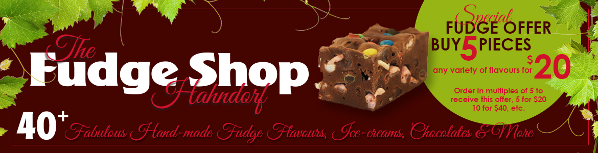 The Fudge Shop Hahndorf – Hand-made Fudge, Ice-cream & Chocolates